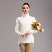 Wholesale 2014 Winter New Style Women s Striped High Lapel Style Pure Mink Cashmere Sweater Short Style Pullover Cashmere Sweater Color Choice L008