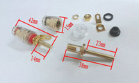 banana adapter - 4pcs Copper Crystal Audio Speaker for mm Banana plug Long Thread adapter