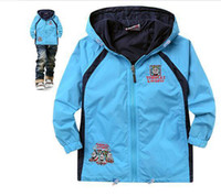 Wholesale 2014 New Style Kids Jackets Coats Boy Wind Breaker Coat And Jacket For Children Spring And Autumn