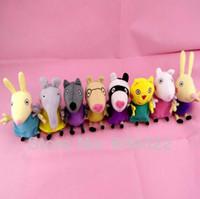 Wholesale 1 peppa pig friends plush toys Animal pony zoe suzy Dog cat sheep rabbit elephant doll gift