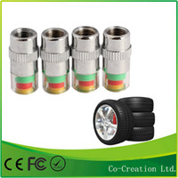 Wholesale Universal Visiable SET Psi Bar Air Warning Alert Tire Valve Pressure Sensor Monitor Light Cap Indicator For Cars