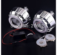 headlight projector lens - 2 Inch Bi Xenon HID Projector Lens Headlight LED Optronic Angel Eye for H1 H4