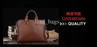 Wholesale Men Briefcases Shoulder Tote Bag Horizontal Solid Brown Black Color Mix B6