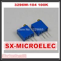 50pcs / lot 3296W-104, 100K potenciómetro 3296W Potenciómetro ajustable, resistencia variable