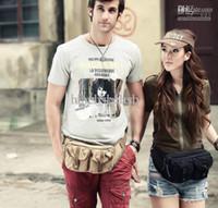 Wholesale Fashion Designer Mens Womens Waist Bag Purse Black Khaki colors Canvas Style Arm Pack E11