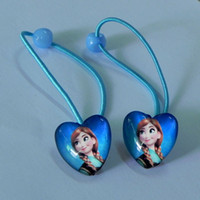 Wholesale New Frozen Elsa Anna Princess Cartoon Lace Headband Heart Shaped Frozen Hairbands Accessories