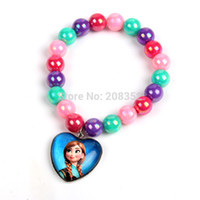 Wholesale New Frozen Princess Elsa Anna Suit combination Snow and ice colors bracelet For Children Girls