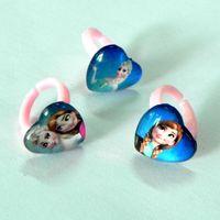 anna stone - Children Ring Frozen Elsa Anna Heart Plastics Glass Open Rings jewelry Kids Girls Party Jewelry Styles