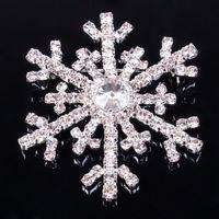 christmas brooch - Snowflake W Swaroski Crystal Frozen Brooch Pin AB Charm Christmas Gift Jewelry