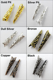 Wholesale Bugle Filigree Long End Bead Cap x35mm Gold Silver Bronze Copper etc