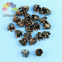 Wholesale mm Antique Bronze Plated Metal Big Flower Beads Caps DIY Accessories Jewelry Findings For Jewelry Making