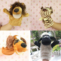 real doll - 2 High Quality Kinds A set Zoo Animals Lovely Hand Puppet Dolls Stuffed Toys Very Soft and Real Baby Toy Good FZ1420 FZ1424