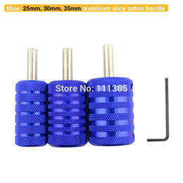 Wholesale New Style Mixed Size Knurled Aluminum Alloy Tattoo Grips Blue for Tattoo Machine Gun Tattoo Supplies