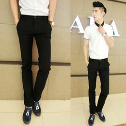 Wholesale spring new Korean version personality casual fashion all match fashion male casual pants slim skinny pants trousers