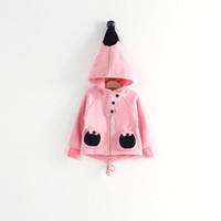 Wholesale fashion retail new girl qiu dong season wearing lovely small hag hoodie