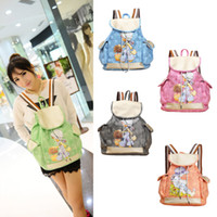 Wholesale Candy Color School Bags for Girls PU Leather Girl Pattern Women Backpack Drawstring Casual Cute Travelling Bag Bolsas Femininas H13097