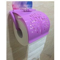 toilet paper - Bathroom Accessories Home Convenient Toilet Tissue Holder Wall Mount Sticker Paper Holders H12425
