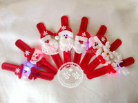 Wholesale Novelty Toys and Gifts Christmas gift Luminous Christmas bracelet Xmas Santa Claus Snowman toy slap pat circle Bracelet