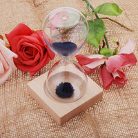 Wholesale New Desktop Decoration Magnet Hourglass Awaglass Hand blown Sand Timer Magnetic Sandglass Hourglasses Colors H12185