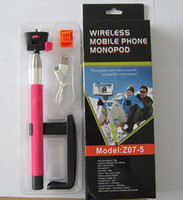 Wholesale Wireless Bluetooth monopods Shutter Camera Remote Controller Extendable Handheld Self portrait Monopod selfie stick Photograph