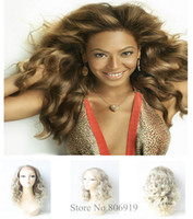 Wholesale queen hair products synthetic lace front wig blond afro kinky curly wig new fashion Beyonce s favourite glueless lace wig ombre wig