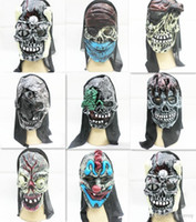 Wholesale Halloween masks latex full face mask Party masks ghost Mask horror Devil Evil Mask scary horror masks Hight quality Volto mask HM87