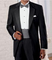 Wholesale 2015 Signature Notch Lapel Groom Tuxedos Jacket Pant Tie Wedding Suit For Men Fashion Tux Tuxedos Designers Tailored Prom Suits