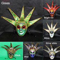 Wholesale High grade PVC Venice Halloween masks Party Masks Ball Mask Full Face masks masquerade masks colour drawing pattern masks for All M30