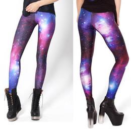 Wholesale HOT SEXY Women Galaxy Leggings Space Print Pants BLACK Black Milk Leggings Plus Size XS M L XL Best Quality