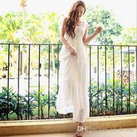 Cheap 2014 Hot Chiffon Wedding Bridesmaid Dresses Cocktail Party Fashion Fairy Sleeveless Long Maxi Dress Beach BOHO Formal Beach Dress Sundress