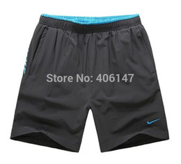 Wholesale New Men s Sport Running shorts male fitness shorts L to XL Red Green Blue High Quality