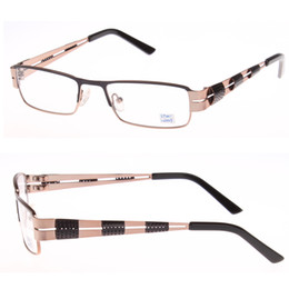 Wholesale newest arrival design prescription glasses with double colors stainless steel optical frames eyewear glasses
