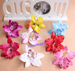 Wholesale 7CM Silk Orchid Artificial Flower Orchids High Quality Diy Flower For Wedding Hat Decoration Hawaiian Party Flowers