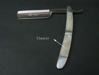 al por mayor de mano de la vendimia-Handheld Straght Edge Maquinilla de afeitar de estilo europeo barbería vintage de lujo duradera maquinilla de afeitar Clásico