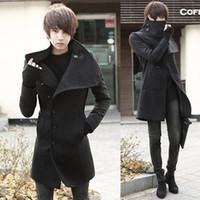mens trench coat - New Winter mens long coat Men s wool Coat Turn down Collar sing Breasted trench coat men