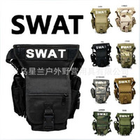 Wholesale American swat multifunction pockets riding outdoor sports bag travel bag waterproof tactical leg bag men and women