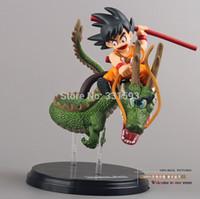 Wholesale Anime Dragon Ball Z Super Saiyan Goku with Dragon Riding PVC Action Figures Collection Model Toys Doll cm