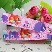 Wholesale character one direction Littlest Pet Shop Printed Grosgrain Ribbon Hairbow Diy Party Decorati polyeste