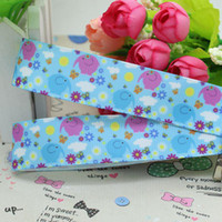 Wholesale character one direction inch Elephant Flowers Printed Grosgrain Ribbon Hairbow Diy Party Decoration OEM mm baby ribbon bows