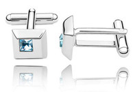 Cheap High Quality shirt Cuff links Designer Costume Jewelry Men's Crystal Cufflinks made with Swarovski Elements 1132