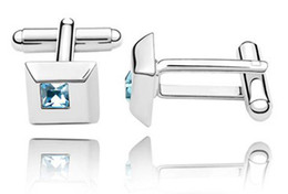 High Quality shirt Cuff links Designer Costume Jewelry Men's Crystal Cufflinks made with Swarovski Elements 1132