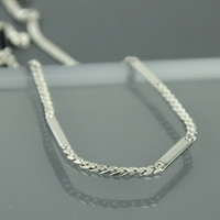 Wholesale Sterling Silver Jewelry Genuine Mens necklace Fashion Jewellery Necklaces