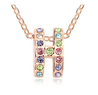 best selling jewellery - New Arrival Best Selling Fashion Brand jewelry Crystal Pendant Necklace K Rose Gold Plated lady Jewellery