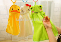 Wholesale 2015 New Microfiber Fabric Cartoon Hand Dry Towel Clearing lovely animal face Towel For Kitchen Bathroom Office and Car Use