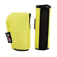 Wholesale 2pcs Hook Loop Fastener Car Gear Shift Knob Handbrake Cover Sleeve Yellow