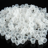 Wholesale 200 Plastic Medium Tattoo Ink Cups Caps Holder Supplies