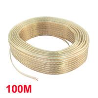 audio tone - 100M Ft Long Copper Tone Horn Speaker Wire Cord for Home Car Audio