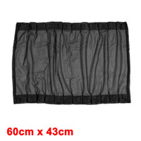 Wholesale 2pcs Black Nylon Mesh Side Rear Window Curtains Shade cm x cm for Auto Car