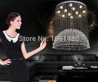 Wholesale new luxury silver K9 crystal chandelier hang wire modern home lighting Dia80 H100CM lusres LED lamp