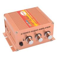 Wholesale DC V W Car Copper Color Aluminum Stereo Audio Amplifier